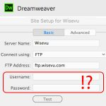 Mac Dreamweaver CC Won't Save FTP Username and Password SOLVED