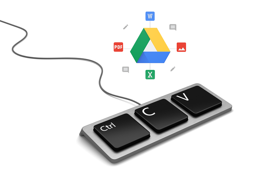 how to duplicate google files-folders-to another location google drive