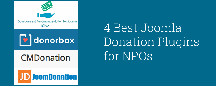 4 Best Joomla Donation Plugins for NPOs