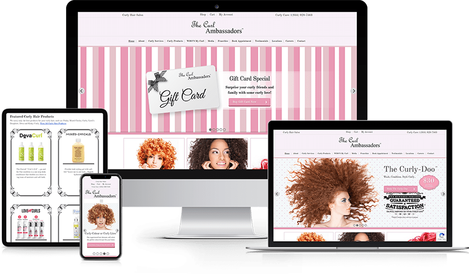 google schema review snippets curly hair salon