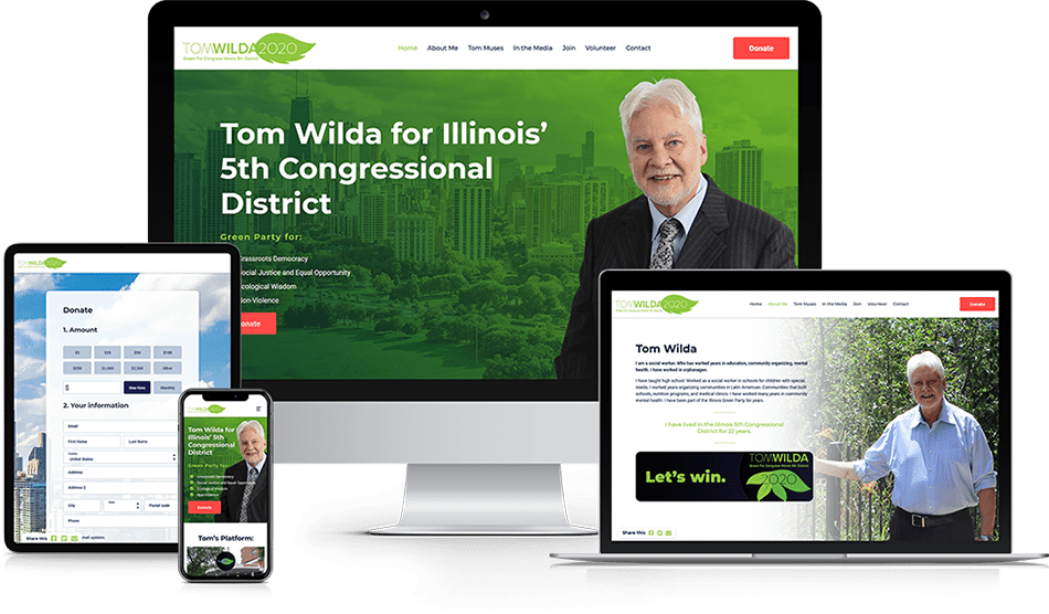 Wisevu Portfolio Tom Wilda Green Party